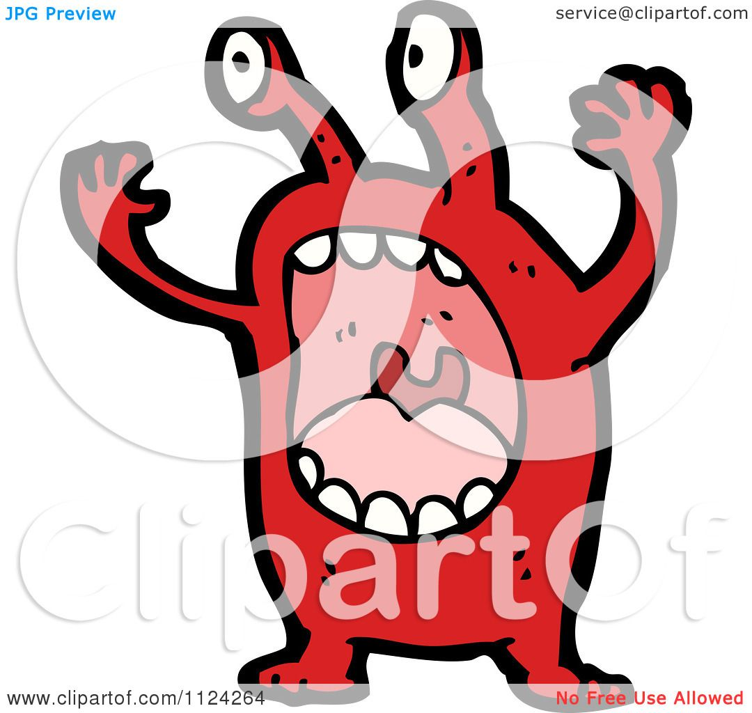 1080x1024 Fantasy Cartoon Of A Red Monster Or Alien
