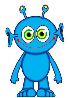 226x320 Alien Clipart Blue