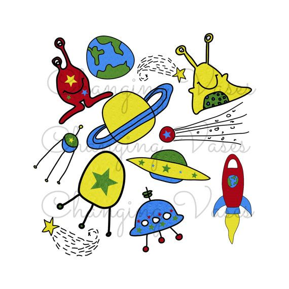 570x570 Outer Space Planets Clipart