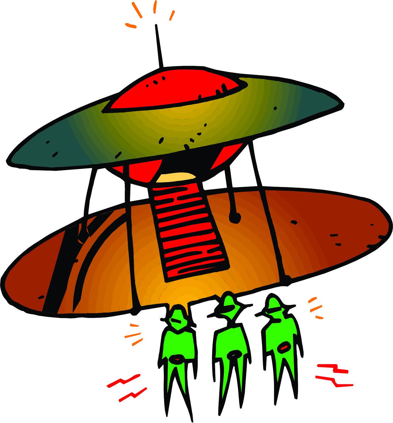 1291x1391 Spaceship Cartoon