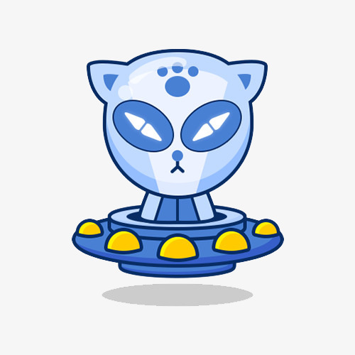 500x500 Take The Spaceship Alien Cat, Alien, Kitty, Ufo Png Image
