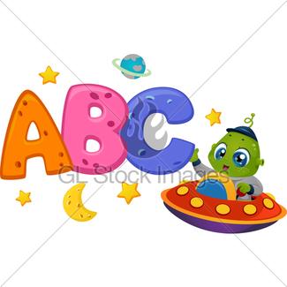 325x325 Alien Boy Spaceship Gl Stock Images