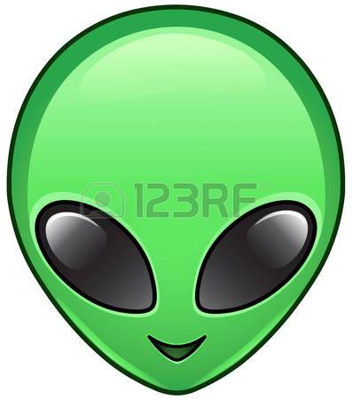 397x450 Alien Head Clipart