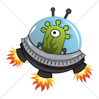 325x325 Alien In A Flying Saucer Gl Stock Images