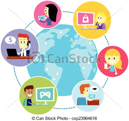 450x424 Internet Clipart Everyone Using Internet People All Over The World
