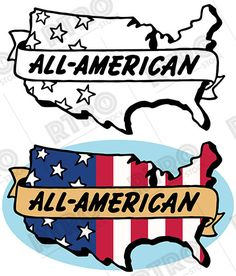 236x276 A Patriotic Graphic Icon Of Two Draped American Flags Vintage