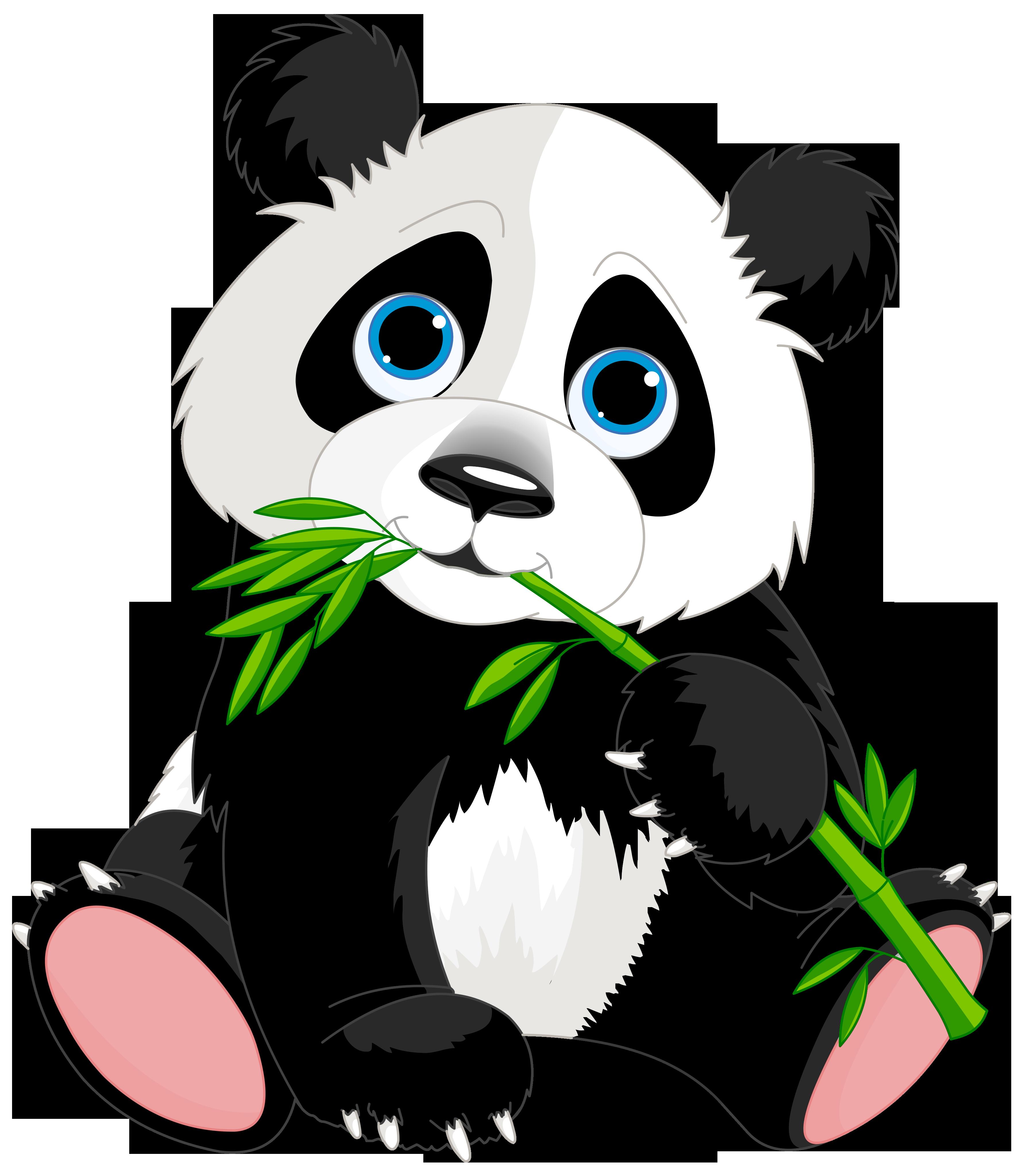 3562x4094 Panda Clip Art Black And White