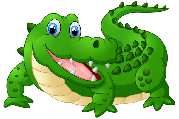 600x399 Clipart Alligator