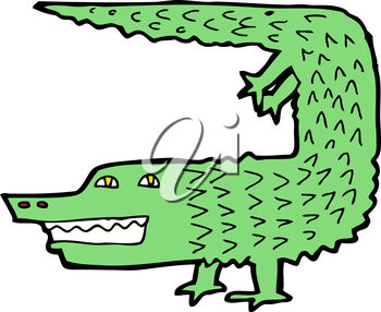 350x286 Clipart Illustration of an Alligator