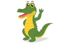 210x153 Free Alligator Clipart