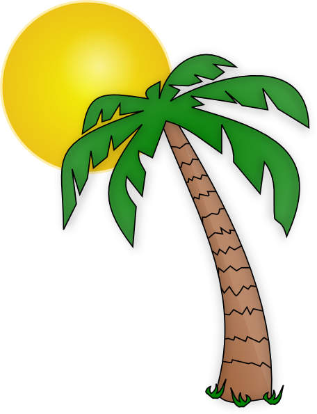456x595 Palm Trees Clipart