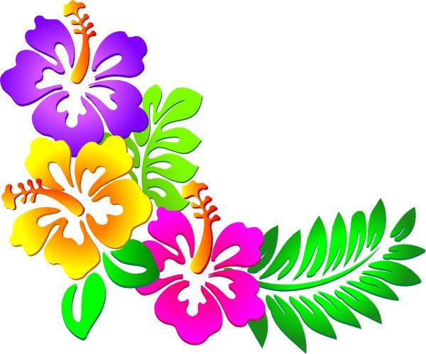 600x499 Aloha Flower Clipart