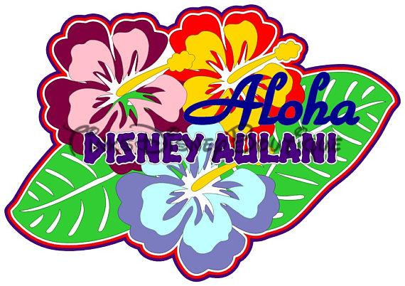 570x402 Disney Aulani Svg Clipart Aloha Title Scrapbook Cricut Silhouette