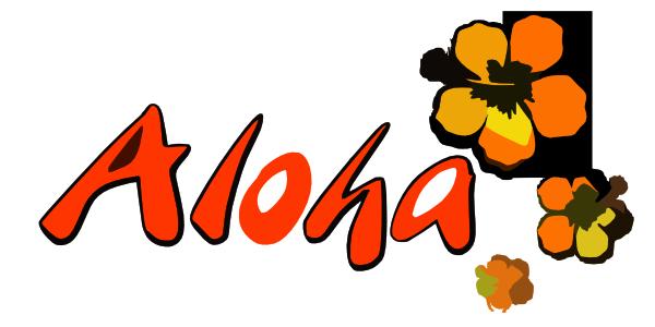 600x300 Aloha Clipart Logo Aloha Clip Art