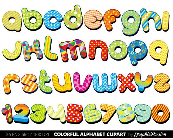 570x459 Colorful Alphabet Clipart Color Alphabet Digital Alphabet Letters