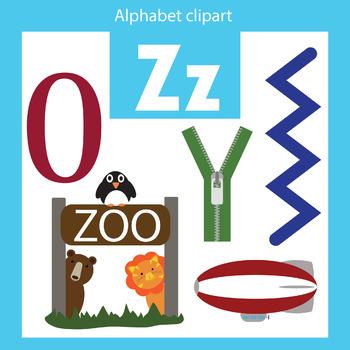 350x350 Alphabet Clip Art Letter Z Beginning Sounds By Thinkingcaterpillars