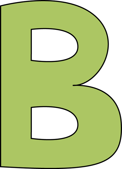 398x550 B Clipart Green Letter B Clip Art Green Letter B Image