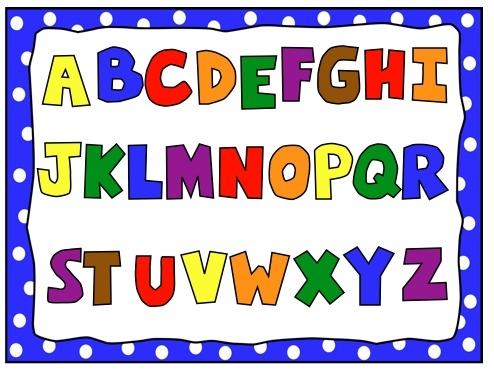 494x371 Clip Art Letters