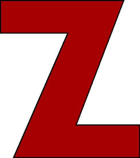 490x550 Red Letter Z Clip Art Image Alphabet Clipart