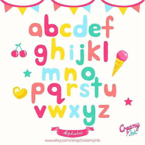 570x570 Alphabet Digital Vector Clip Art Alphabets Digital Clipart