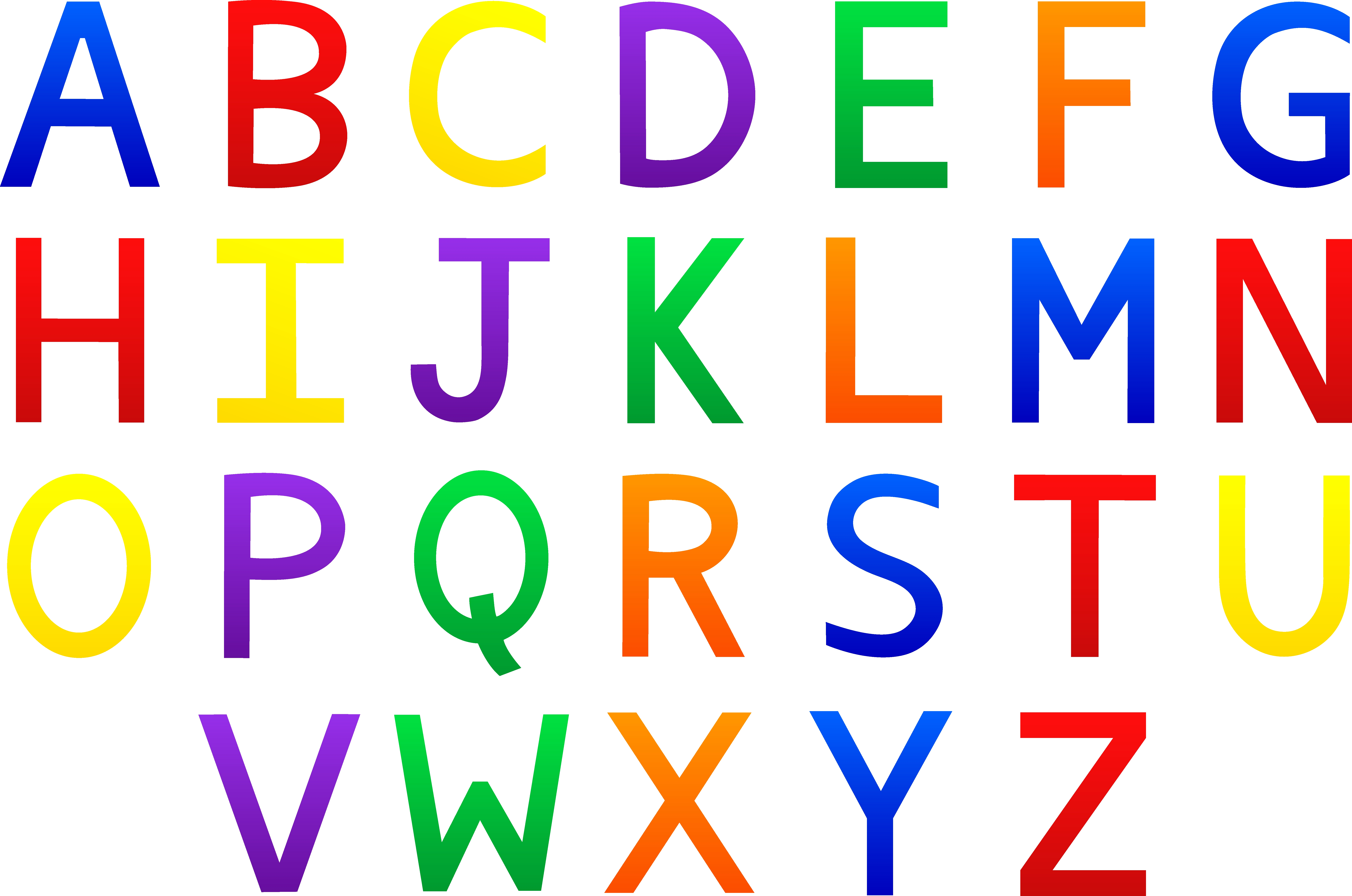 7810x5176 Fresh Letters Clipart Collection