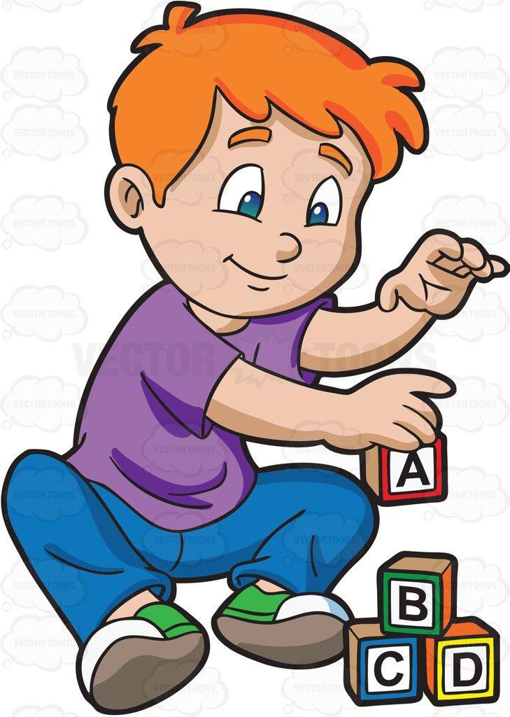 729x1024 A Young Boy Building Alphabet Blocks Alphabet Blocks, Young Boys