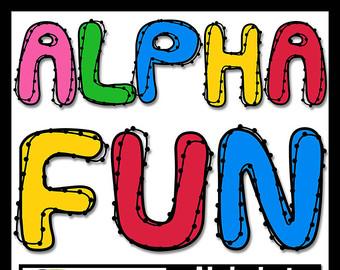 340x270 Alphabet Clipart Alphabet Clip Art Gradient Letters Digital