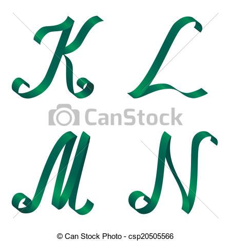 450x470 Green Ribbon Alphabet