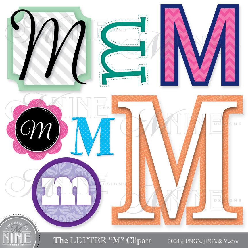 863x863 Letters Clipart Letter M Clip Art Graphics Vector File, Instant