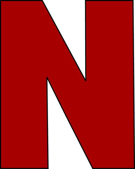 439x550 Red Letter N