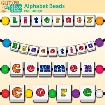 350x350 Alphabet Beads Clip Art Teach Letter Recognition And Identification