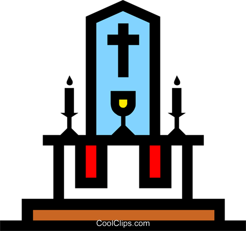 480x451 Symbol Of The Altar Royalty Free Vector Clip Art Illustration