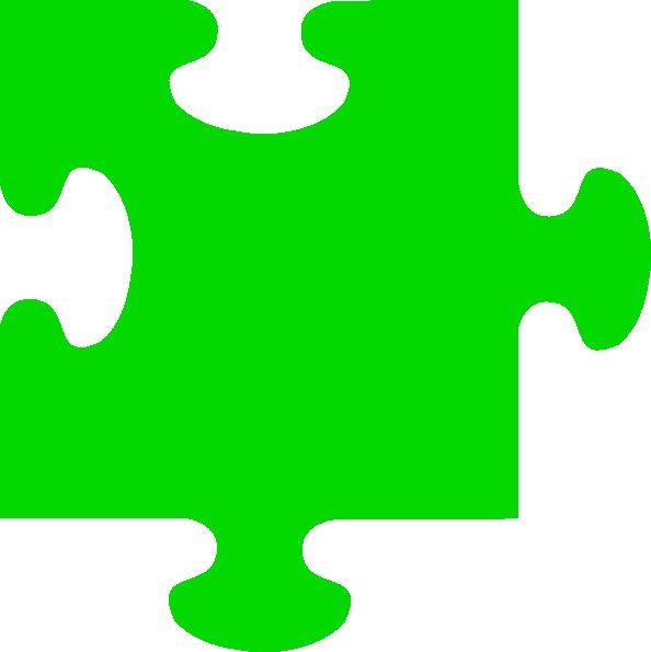 594x595 Green Jigsaw Clip Art
