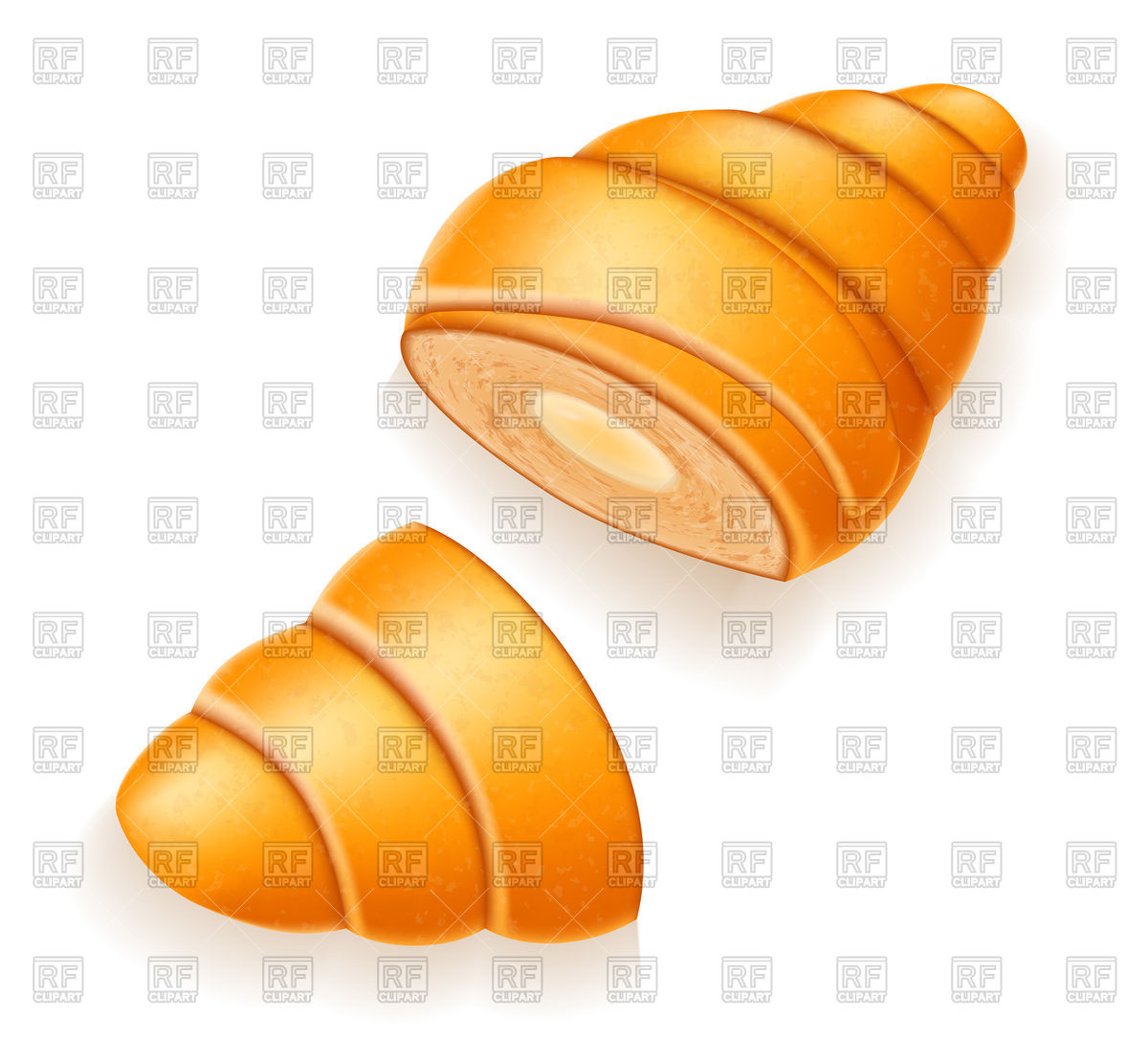 1200x1086 Croissant With Cream Or Condensed Milk Royalty Free Vector Clip