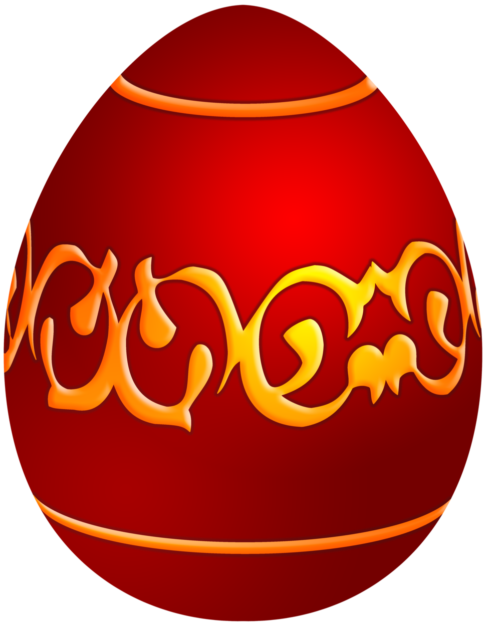 970x1250 Easter Decorative Red Egg Png Clip Art