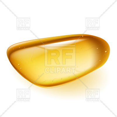 400x400 Glossy Piece Of Amber Royalty Free Vector Clip Art Image