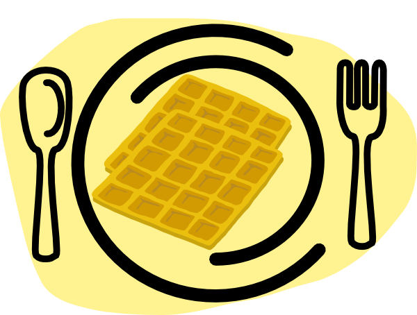 600x454 Waffle Plate Fork Clip Art
