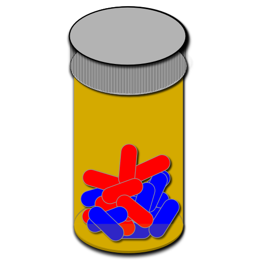 512x512 Amber Prescription Bottle Clipart Image