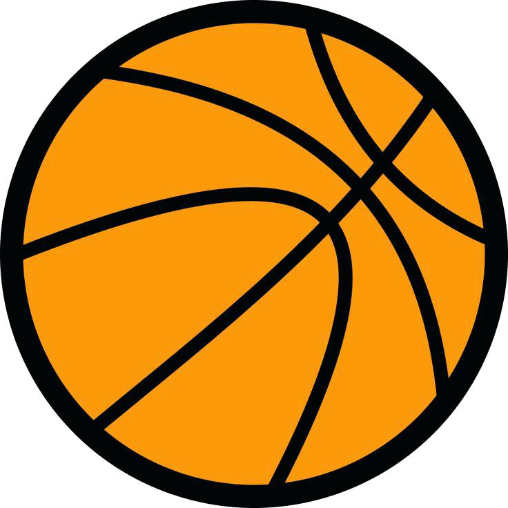736x736 Clip Art Of Basketball Basketball Clipart Black And White Png