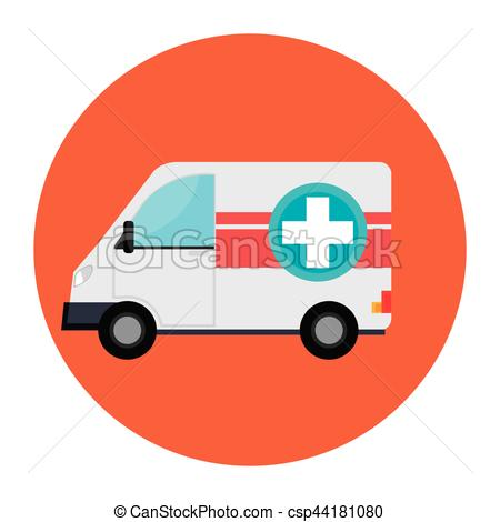 450x470 Ambulance Emergency Vehicle Icon Vector Illustration Design Vector