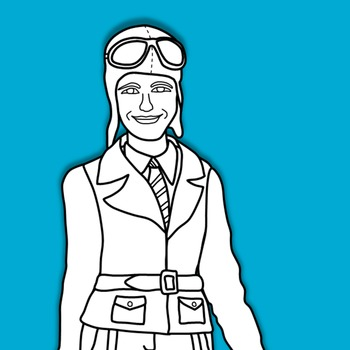 350x350 Amelia Earhart Clipart And Paper Dolls By Teacher's Palette Tpt