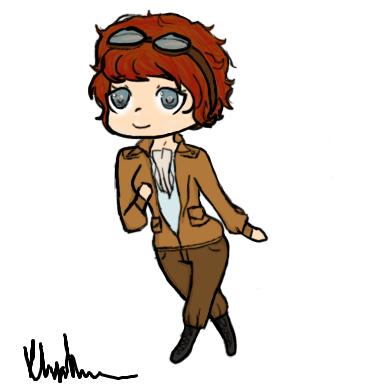 384x384 Amelia Earhart Chibi By Kitten1love
