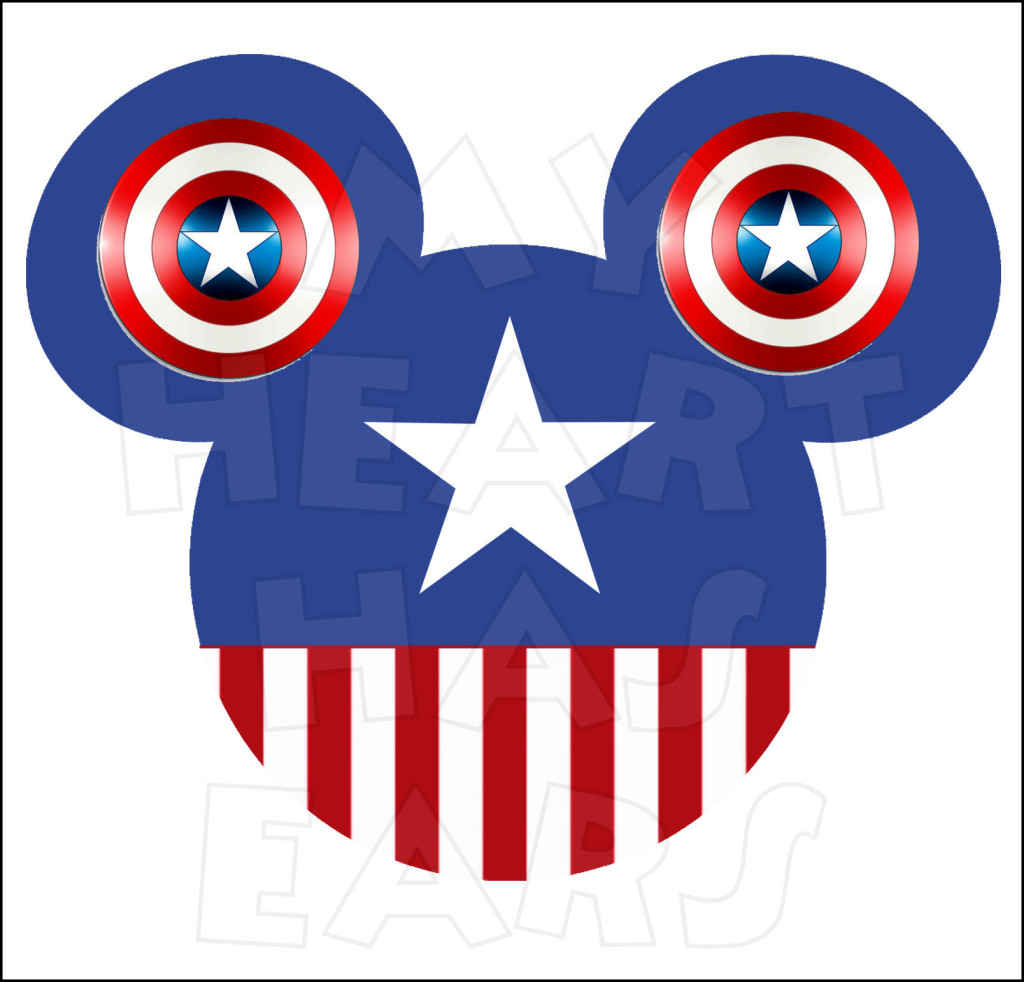1024x982 Mickey Mouse Dressed As Captain America Instant Download Digital