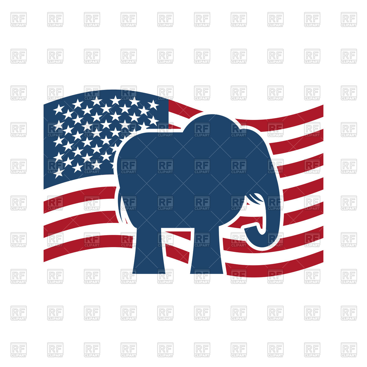 1200x1200 Republican Elephant And Us Flag. Political Party America Royalty