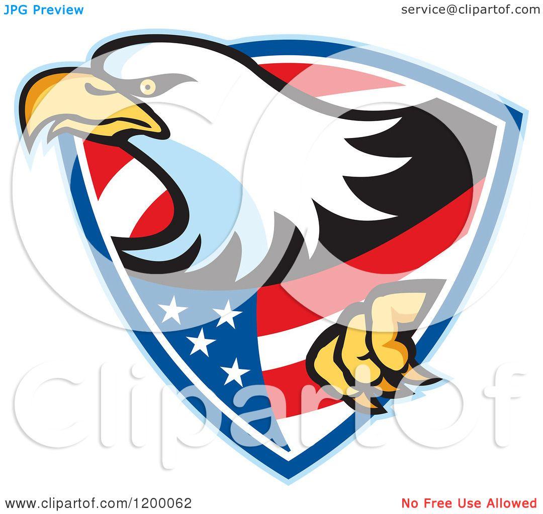 1080x1024 Clipart Of A Retro Bald Eagle Climbing Through An American Shield