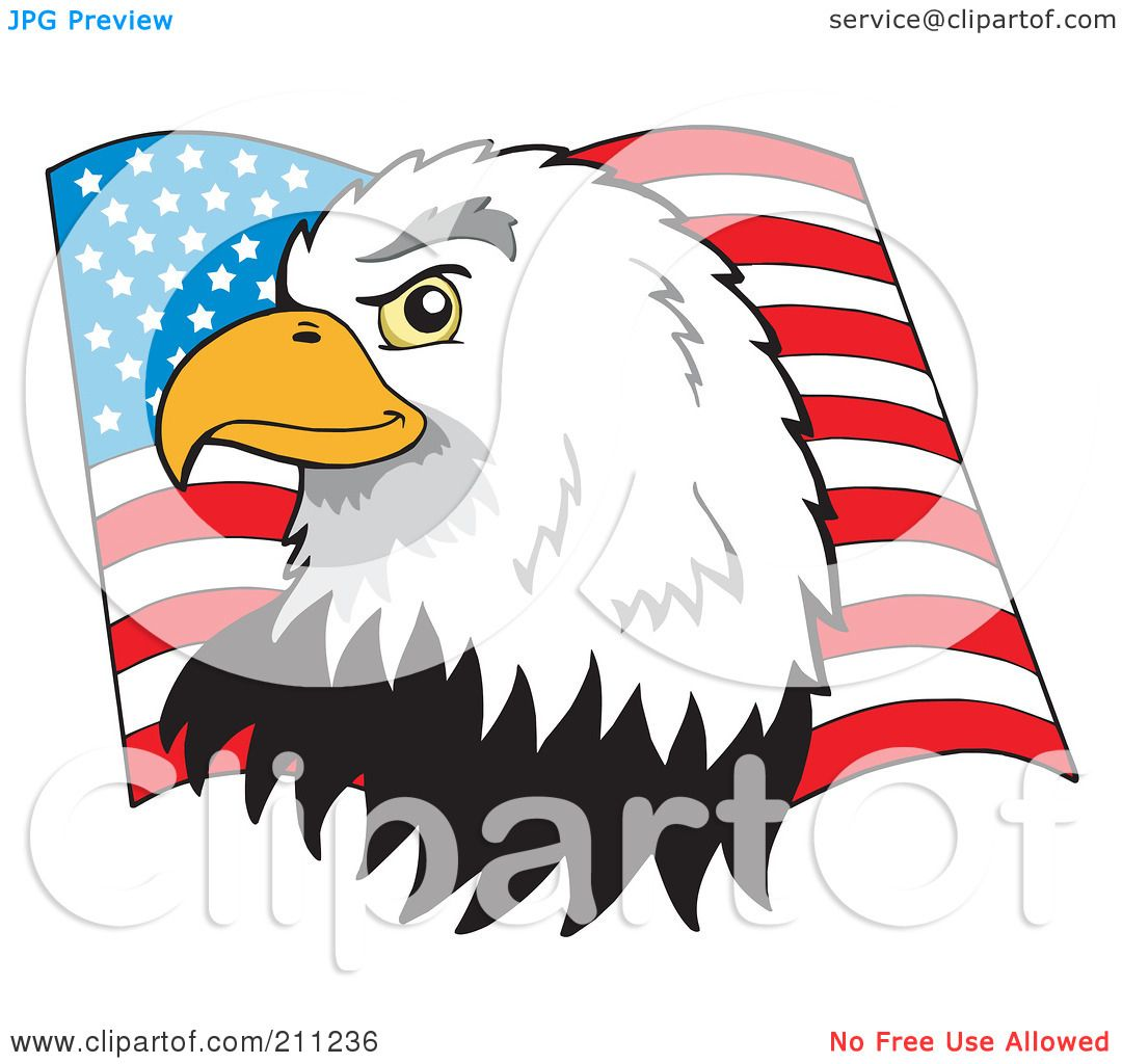 1080x1024 Royalty Free (Rf) Clipart Illustration Of A Profiled American Bald