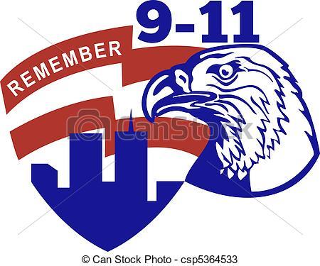 450x375 9 11 American Bald Eagle Flag Illustration Of An American
