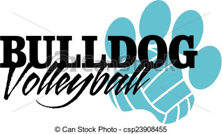 450x272 Collection Of Bulldog Volleyball Clipart High Quality, Free