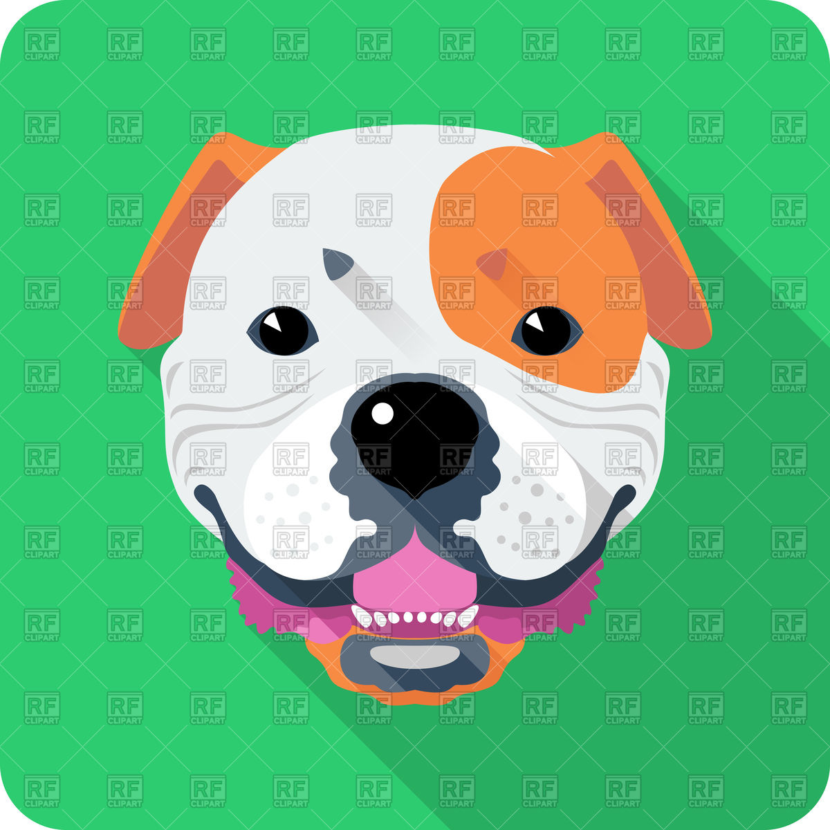 1200x1200 Dog American Bulldog Icon Royalty Free Vector Clip Art Image