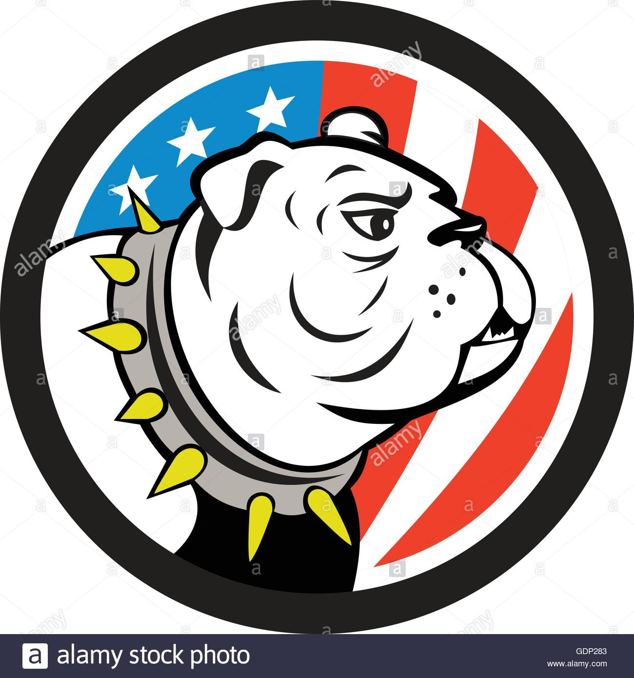 1300x1390 American Bulldog Dog Stock Vector Images